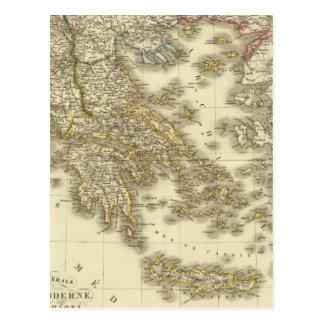 Cartão Postal Ilhas do grego moderno, Albânia, Macedónia