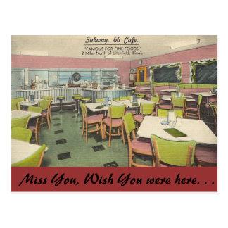 Cartão Postal Illinois, café do metro 66, Litchfield