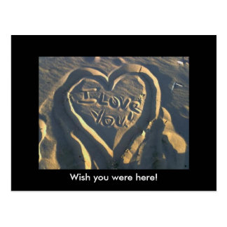 Cartão Postal Iloveyou, deseja que você estava aqui!