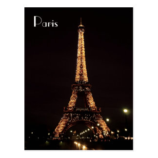 Cartão Postal Iluminações de Paris: A torre Eiffel