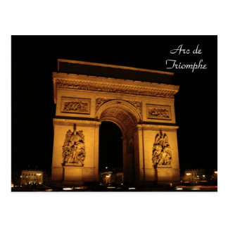 Cartão Postal Iluminações de Paris: Arco do Triunfo
