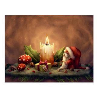 Cartão Postal Ilumine uma vela