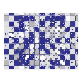 Cartão Postal Ilusão óptica no azul e nas cinzas