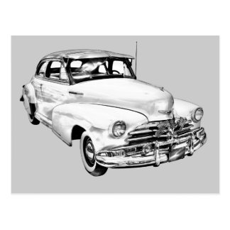 Cartão Postal Ilustração 1948 do carro de Chevrolet Fleetmaster