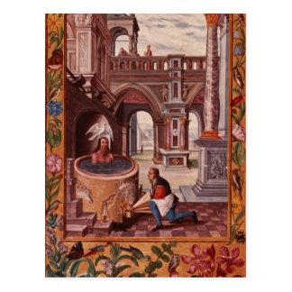 Cartão Postal Ilustração alegórica de um alquimista em