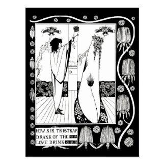 Cartão Postal Ilustração-Aubrey Beardsley 10 do Cartão-Vintage