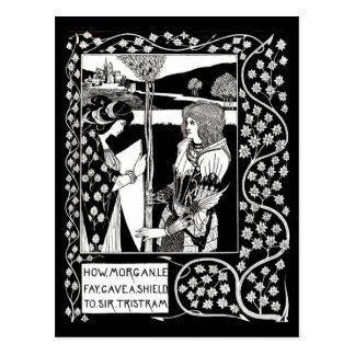 Cartão Postal Ilustração-Aubrey Beardsley 14 do Cartão-Vintage