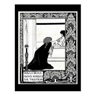Cartão Postal Ilustração-Aubrey Beardsley 21 do Cartão-Vintage