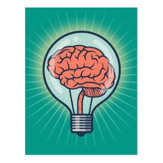 Cartão Postal Ilustração Brainy da ampola