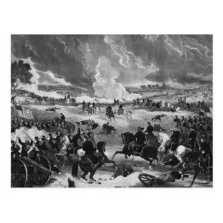 Cartão Postal Ilustração da batalha de Gettysburg