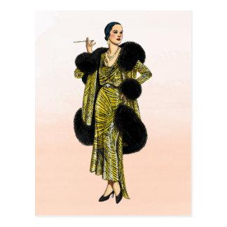 Cartão Postal Ilustração da forma do Couture de Hollywood do