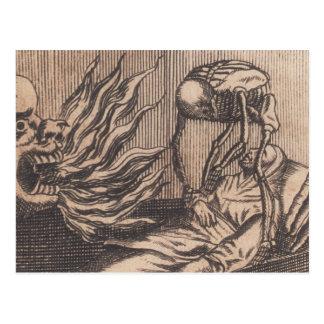 Cartão Postal Ilustração da morte. Cerca de 1792.
