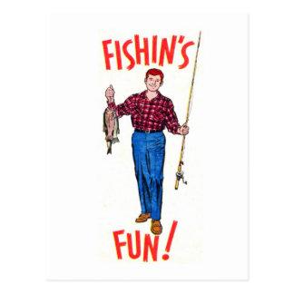 Cartão Postal Ilustração da pesca do divertimento de Fishin