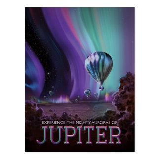 Cartão Postal Ilustração da viagem espacial da ficção científica