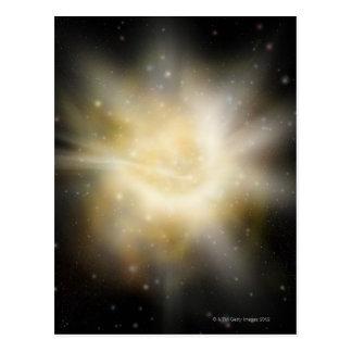 Cartão Postal Ilustração de Digitas de um sistema solar
