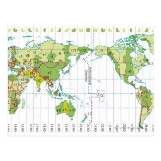 Cartão Postal Ilustração de Digitas do mapa do mundo que mostra