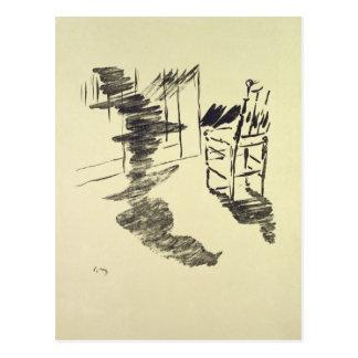 Cartão Postal Ilustração de Manet | para 'o Raven