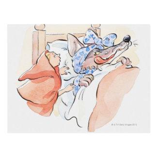 Cartão Postal Ilustração de pouca posição da capa de equitação
