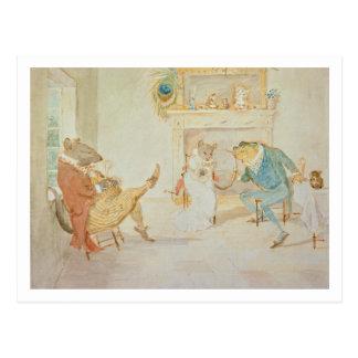 Cartão Postal Ilustração 'de um sapo que um Go de corte