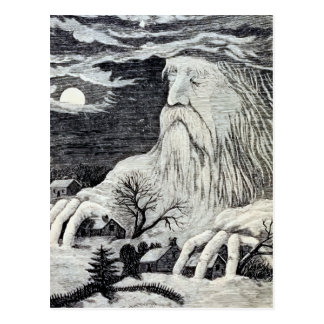 """Cartão Postal Ilustração do vintage de """"Jack Frost"""""""