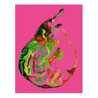 Cartão Postal Ilustração do watercolour do pop art da fruta da