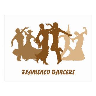 Cartão Postal Ilustração dos dançarinos do Flamenco