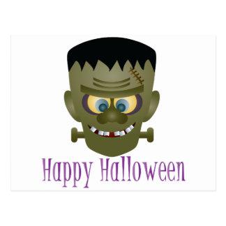 Cartão Postal Ilustração feliz do monstro do Dia das Bruxas