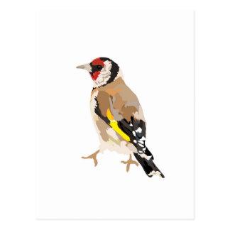 Cartão Postal Ilustração moderna do Goldfinch
