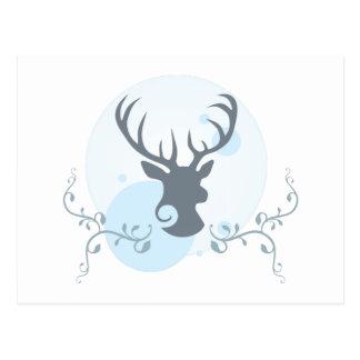 Cartão Postal Ilustração principal dos cervos