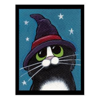 Cartão Postal Ilustração subtil familiar do gato do Dia das