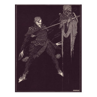 Cartão Postal Ilustrações de Edgar Allan Poe de Clarke