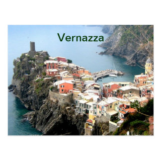 Cartão Postal imã de geladeira de Italia do vernazza