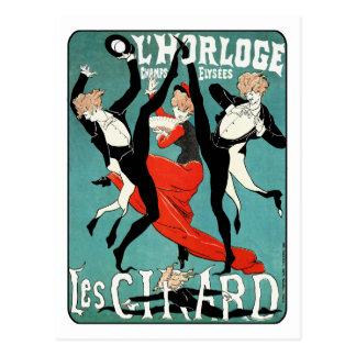 Cartão Postal Imagem da dança de Nouveau da arte por Jules