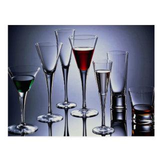 Cartão Postal Imagem da série do Wineglass