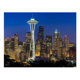 Cartão Postal Imagem da skyline de Seattle em horas de manhã