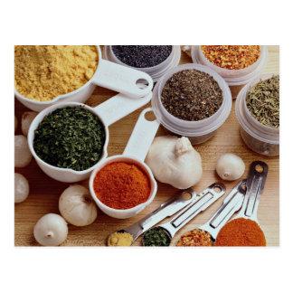 Cartão Postal Imagem de especiarias frescas com cravos-da-índia