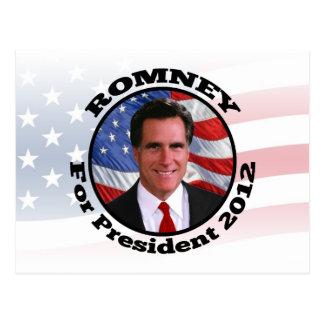 Cartão Postal Imagem de Romney, voto para o presidente 2012