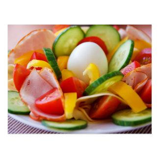 Cartão Postal Imagem deliciosa da comida da salada dos vegetais