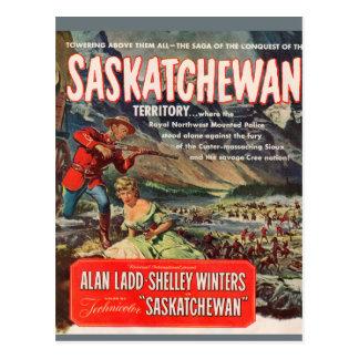 Cartão Postal Imagem do cartaz cinematográfico de Saskatchewan