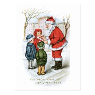 Cartão Postal Imagem do natal vintage