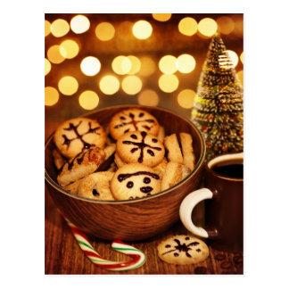 Cartão Postal Imagem do pão-de-espécie do tempo do Natal