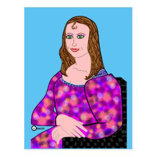Cartão Postal Imagem dos desenhos animados de Mona Lisa
