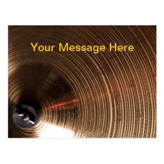 Cartão Postal Imagem dos pratos do cilindro ou do baterista