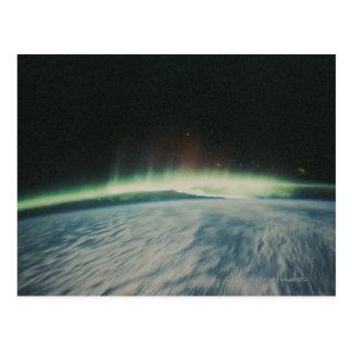Cartão Postal Imagem satélite da aurora boreal