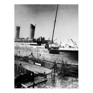 Cartão Postal imagem titânica original sob a construção