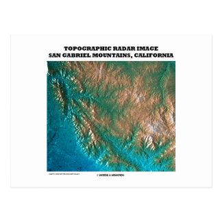 Cartão Postal Imagem topográfica San Gabriel Mtns do radar, CA