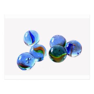 Cartão Postal Imagens de vidro azuis