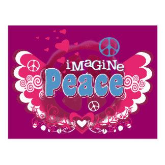Cartão Postal Imagine a paz