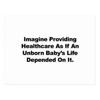 Cartão Postal Imagine fornecer cuidados médicos para bebês por