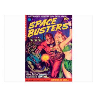 Cartão Postal Imbeceis do espaço